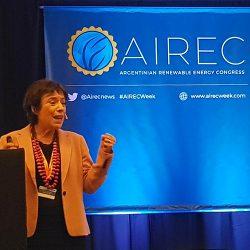 Doris Capurro speaking at AIREC conference.